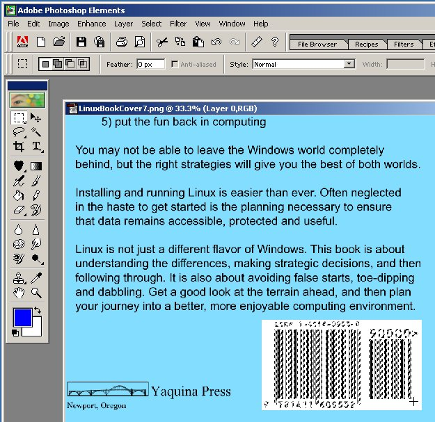 Putting the ISBN barcode on your cover